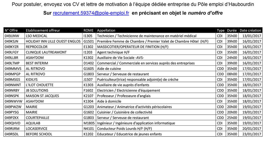 informations pratiques et bourse de l u0026 39 emploi    emploi